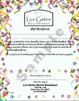 Celebration Gift Certificate Stock