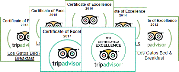 logos of trip advisor excellence certificates